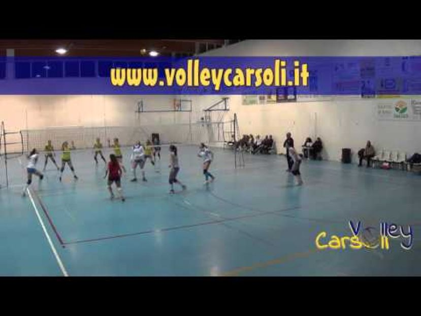 VOLLEY CARSOLI VS COLONNELLA VOLLEY,CAMPIONATO DI SERIE D (VIDEO)